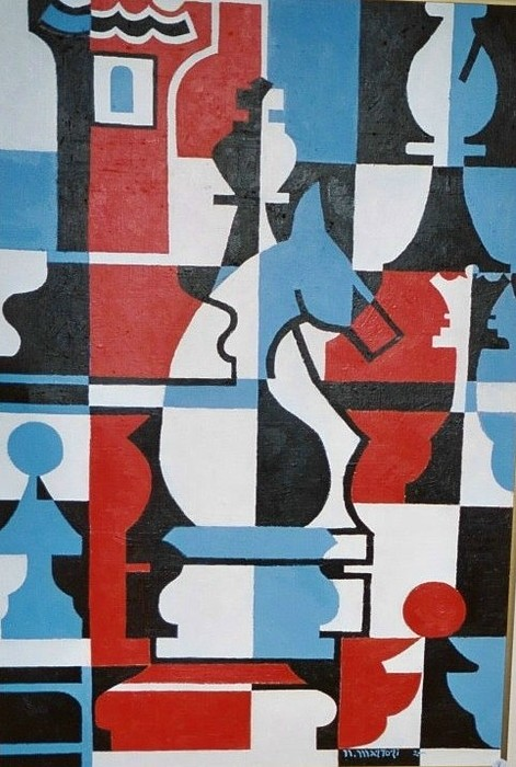 Chessmen Print by Nicholas Martori