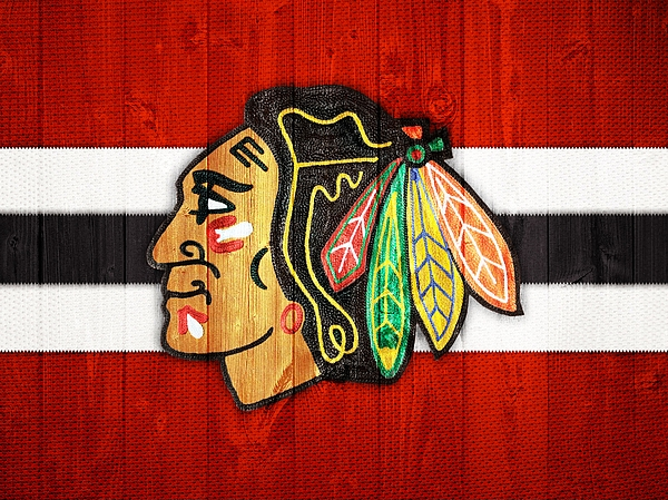 Chicago Blackhawks Barn Door By Dan Sproul