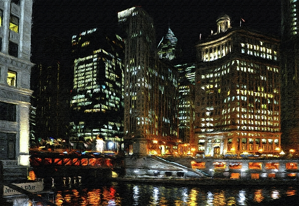 Chicago River Crossing Print by Jeff Kolker