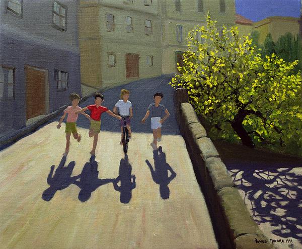 Children Running Print by Andrew Macara