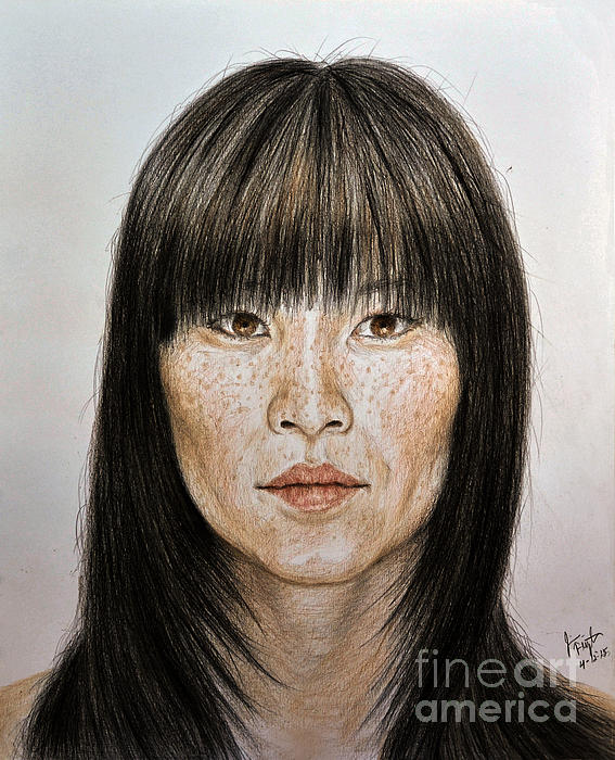 jim Fitzpatrick - Chinese Beauty with Bangs