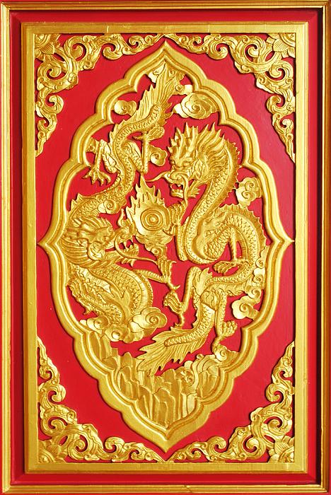 Chinese Design Print by Somchai Suppalertporn