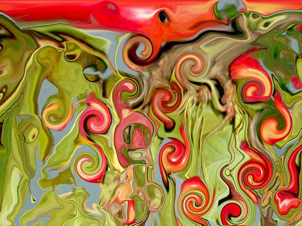 Chokecherry Abstract  Print by Michelle  BarlondSmith