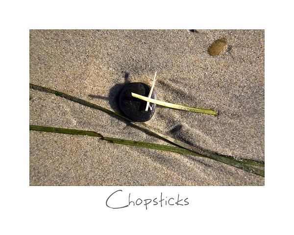 Chopsticks Print by Peter Tellone