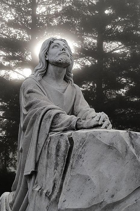 Christ At Prayer Print by Robert  Suits Jr