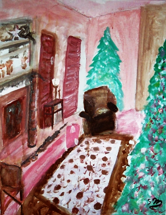 Christmas Cheer Print by Stanley Morganstein