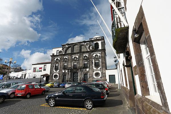 Church In Ponta Delgada Print by Gaspar Avila