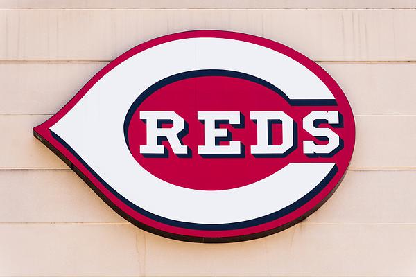 Cincinnati Reds Logo Sign Print by Paul Velgos