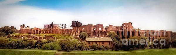 Circo Massimo Panoramic Print by Sue Melvin