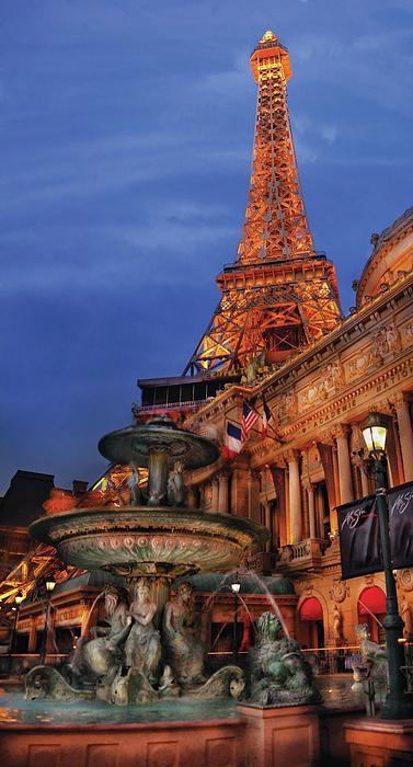 City - Vegas - Paris - Academie Nationale - Panorama Print by Mike Savad