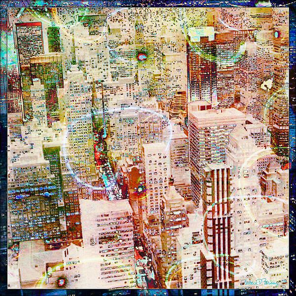 City Snowstorm Print by Barbara Berney