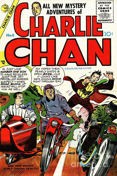 Vintage Comic Book Cover Art ~ Classic comic book cover charlie chan by wingsdomain art