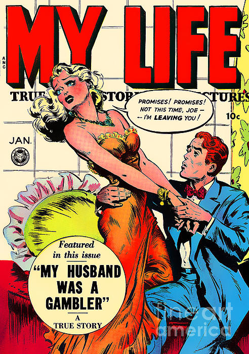 Book Cover Art Public Domain : Classic comic book cover my life january by wingsdomain