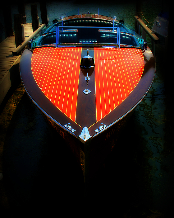 Classic Wooden Boat Print by Perry Webster