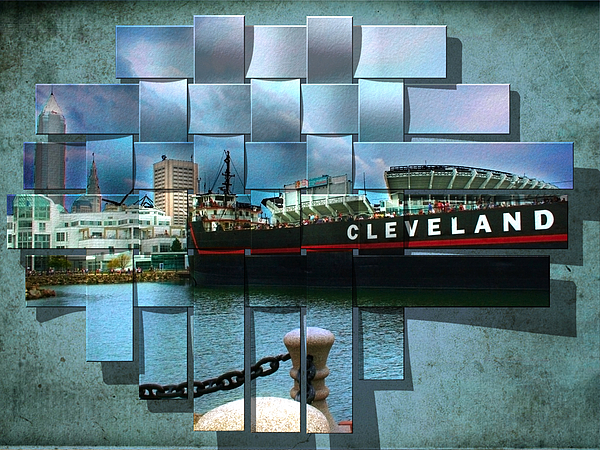 Cleveland A Different Look Print by Kenneth Krolikowski