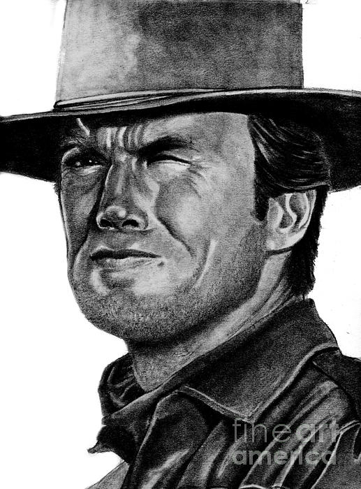 Clint Eastwood Print by Bill Richards