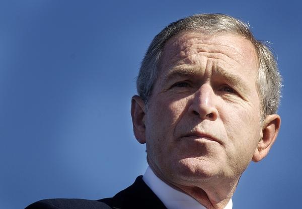 Close Up Of President George W. Bush Print by Everett