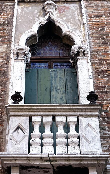 Closed balcony doors in venice italy by richard rosenshein for Closed balcony