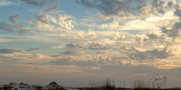 Clouds Gulf Islands National Seashore Florida Print by Paul Gaj