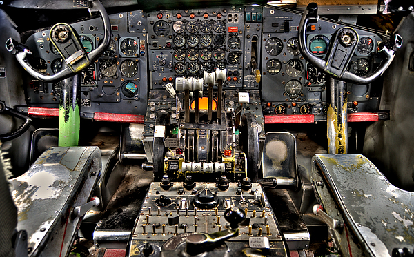 Cockpit Controls Hdr Print by Kevin Munro