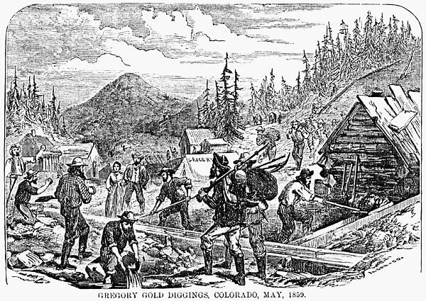 Colorado: Gold Mining, 1859 Print by Granger