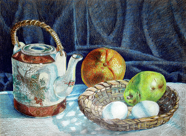 Colored Pencil Still Life No2 Print by Stephen Boyle