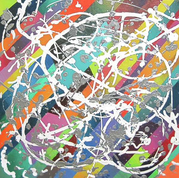 Colorful Disaster Aka Jeremy's Mess Print by Jeremy Aiyadurai