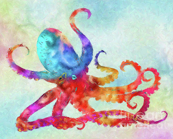 Colorful Octopus Art