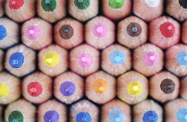 Colorful Pencils 2 Print by Neil Overy