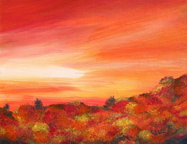 Colours Of Autumn Print by Jesslyn Fraser