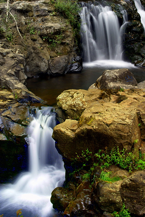 Columba River Gorge Falls 2 Print by Marty Koch