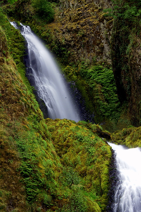 Columbia River Gorge Falls 1 Print by Marty Koch