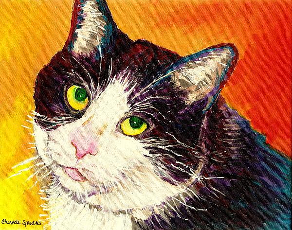 Commission Your Pets Portrait By Artist Carole Spandau Bfa Ecole Des Beaux Arts  Print by Carole Spandau