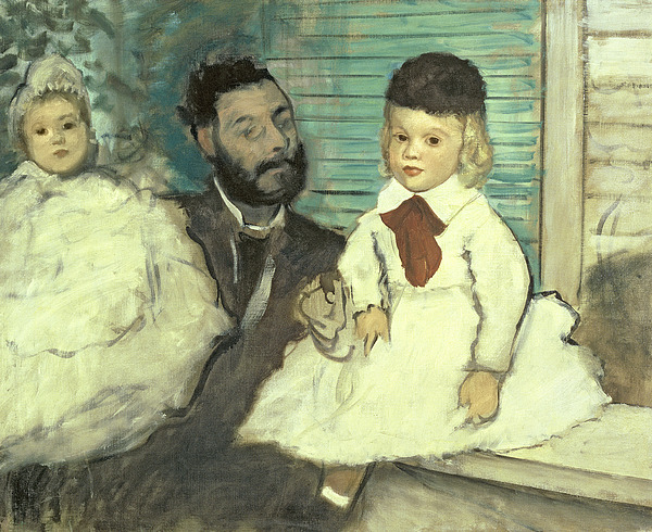 Comte Le Pic And His Sons Print by Edgar Degas