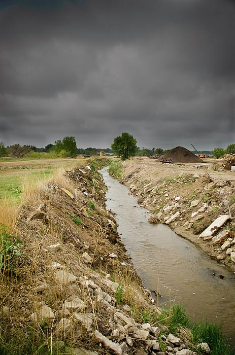 Concrete River 4 Print by Matthew Angelo