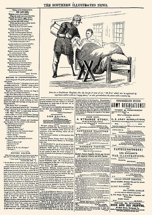 Confederate Newspaper Print by Granger