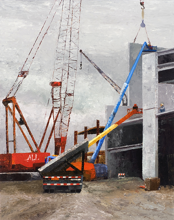 Construction Study In Grey Print by Nancy Albrecht