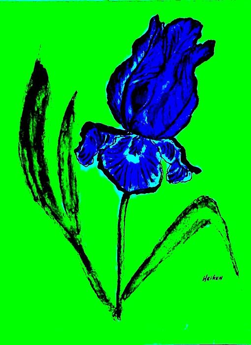 Contemporary Iris Print by Marsha Heiken
