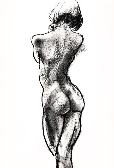 Contra Posta Female Nude Print by Roz McQuillan