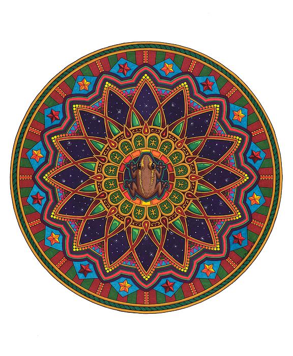 Coqui Mandala Print by Daniel Ramirez