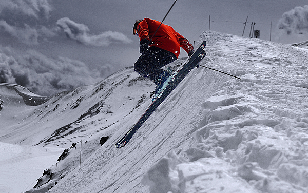 Cornice Leap Print by Kevin Munro