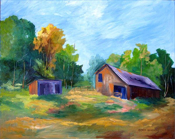 Cottonwood Grove Trail Print by Micheal Hammons