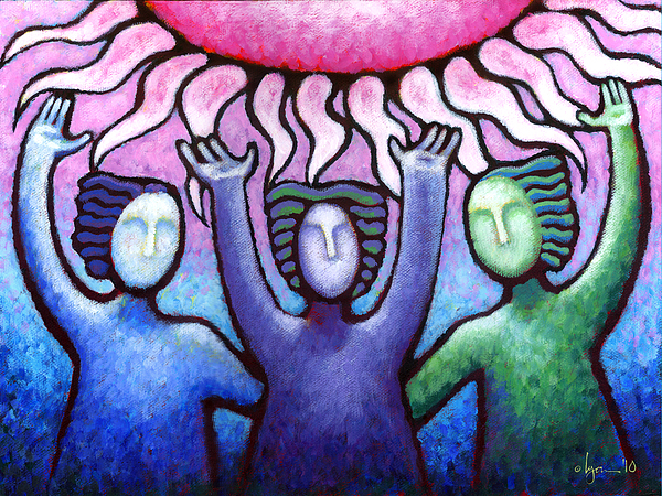 Courage Clarity And Communication Print by Angela Treat Lyon