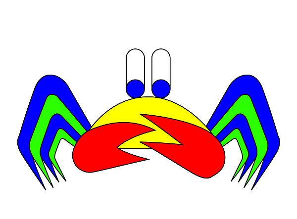 Crab-mac-claw The Crab Print by Asbjorn Lonvig