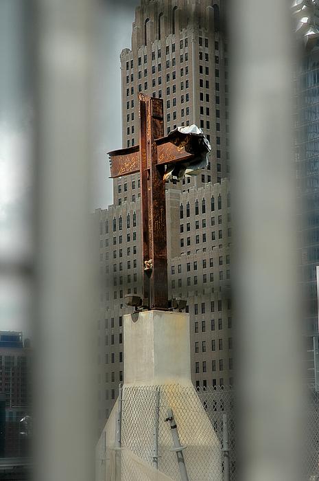 Cross At Ground Zero Print by Frank Mari