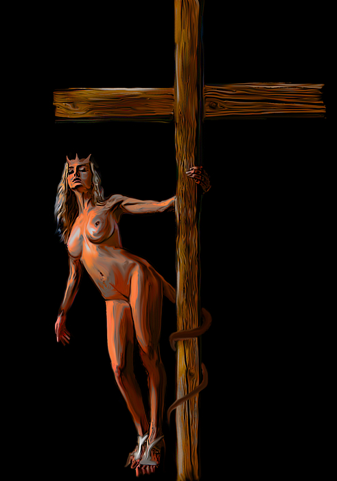 Crucified Print by Tbone Oliver