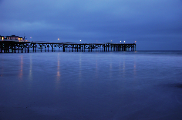 Crystal Pier Blue Print by Kelly Wade