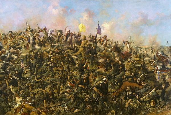 Custer's Last Stand Print by Pg Reproductions
