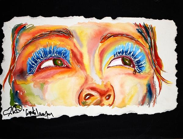 Cyn's Tear Print by Joseph Lawrence Vasile
