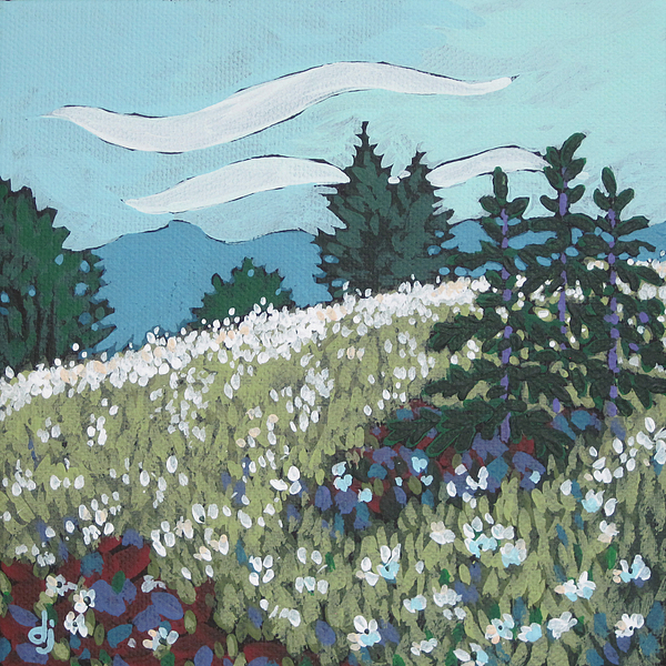 Dorothy Jenson - Daisies on the Hill